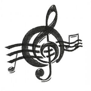 Borduurpatroon Muzieknoot