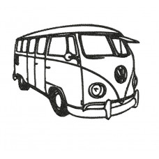 Borduurpatroon Bus vw