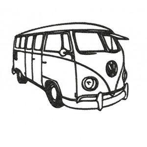 Borduurpatroon Bus vw