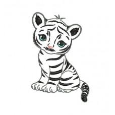 Borduurpatroon Baby tijger