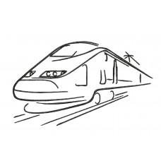 Borduurpatroon Trein