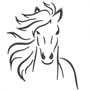 Borduurpatroon Paardenhoofd