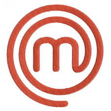 Borduurpatroon M logo