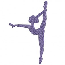 Borduurpatroon Silhouet ballet