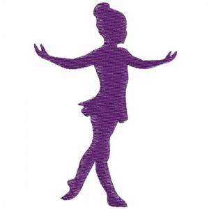 Borduurpatroon Silhouet dans