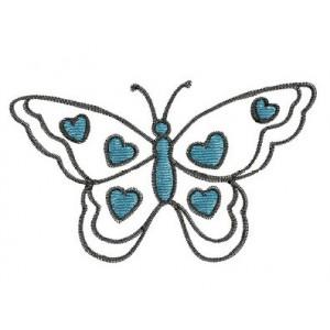 Borduurpatroon Vlinder hartjes