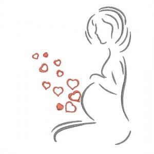 Borduurpatroon Zwangere vrouw
