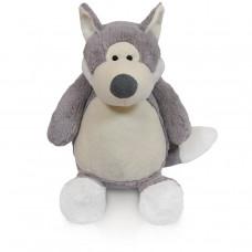 Knuffel buik Wolf grijs/ecru