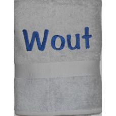 Handdoek zilvergrijs