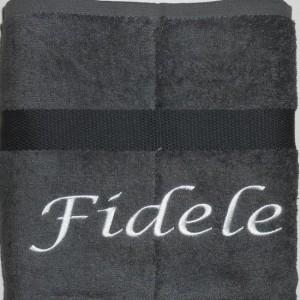 Handdoek donkergrijs