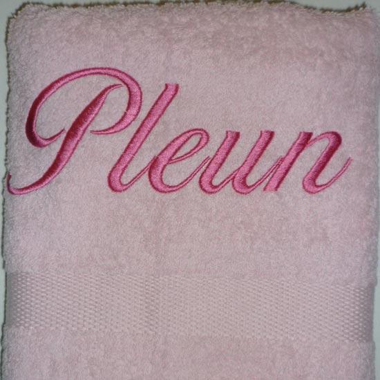 Badhanddoek Met Naam Borduren.Handdoek Roze Naam Borduren Borduurkoning