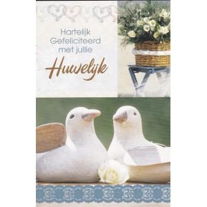 Kaart Huwelijk duif