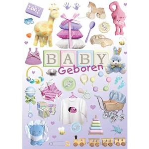 Kaart een baby geboren