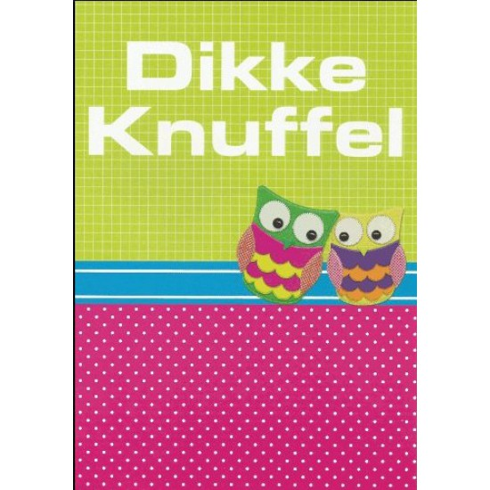Bekend Kaart Dikke Knuffel | naam borduren | BorduurKoning &SG11
