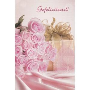 Kaart roos roze