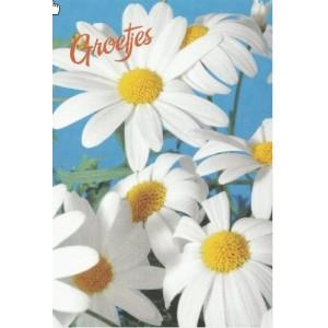 Kaart Groetjes bloem