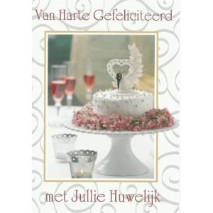 Kaart Huwelijk taart
