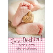 Kaart voetje Een Dochter