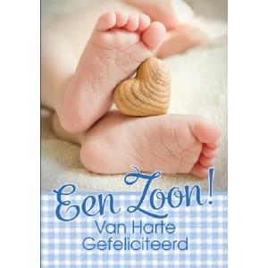 Kaart voetje Een Zoon