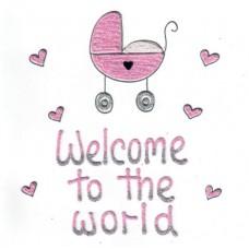 Kaart meisje Welcome