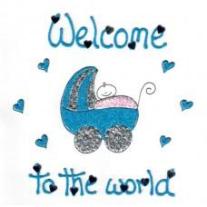 Kaart jongen Welcome