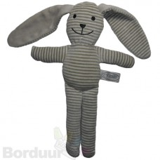 Knuffel gestreept grijs
