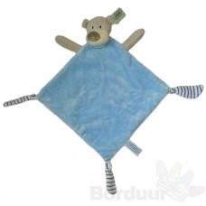 Knuffeldoek kleine beer blauw