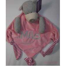 Knuffeldoek grote beer roze