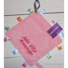 Labeldoekje speen roze