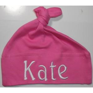 Babymuts 1 knoop roze