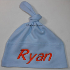 Babymuts 1 knoop lichtblauw