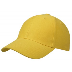 Cap brushed cotton geel