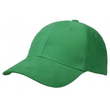 Cap brushed cotton groen