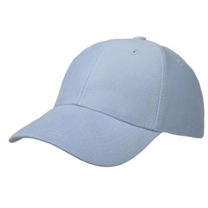 Cap brushed cotton lichtblauw