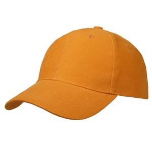 Cap brushed cotton oranje