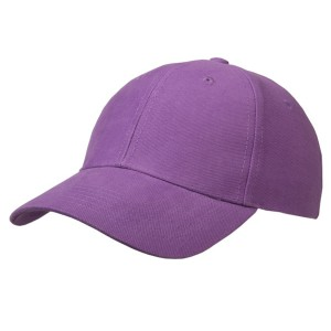Cap brushed cotton paars