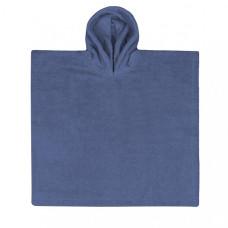 Poncho Jeansblauw