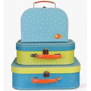 Koffer goudvis klein