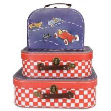 Koffer raceauto klein