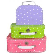 Koffer stip lila klein