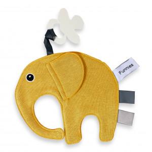 Speen olifant labeldoek Oker