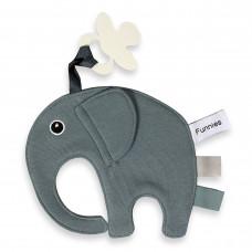 Speen olifant labeldoek Blauwgrijs