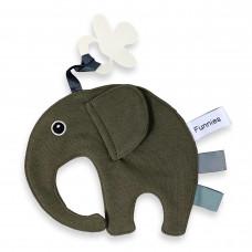 Speen olifant labeldoek Bosgroen