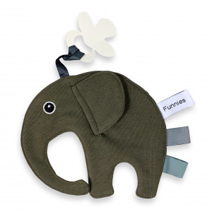 Speen olifant labeldoek Legergroen
