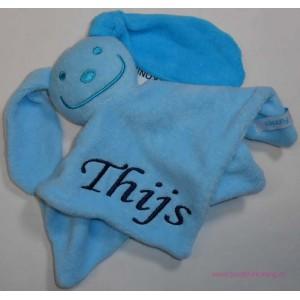 Tutpoppetje blauw turquoise op=op