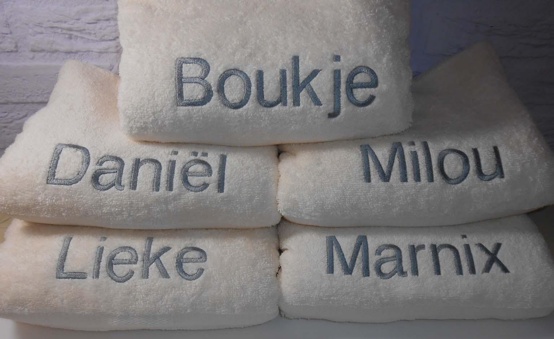 381b46207ad Badtextiel: Handdoek, Douchelaken en Badlaken met naam borduren |  BorduurKoning